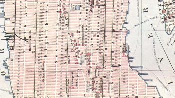 Baedeker map of New York