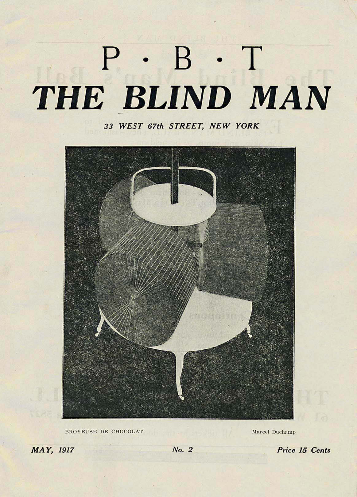 cover of The Blind Man c.1917