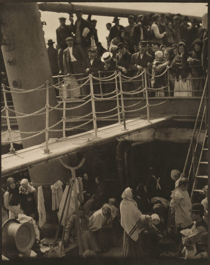 Stieglitz, The Steerage, photo of immigrants on ship