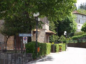 Italian street leading to Vallombrosa