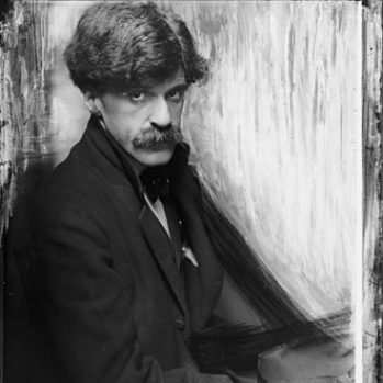 black and white portrait photograph of Alfred Stieglitz