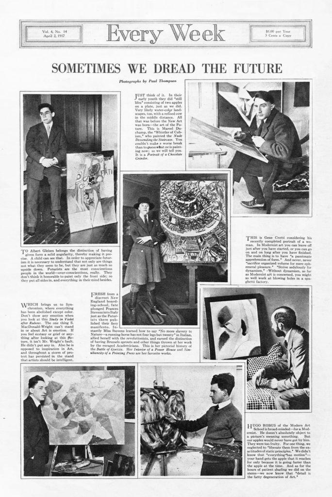 Newspaper article on Futurist Artists