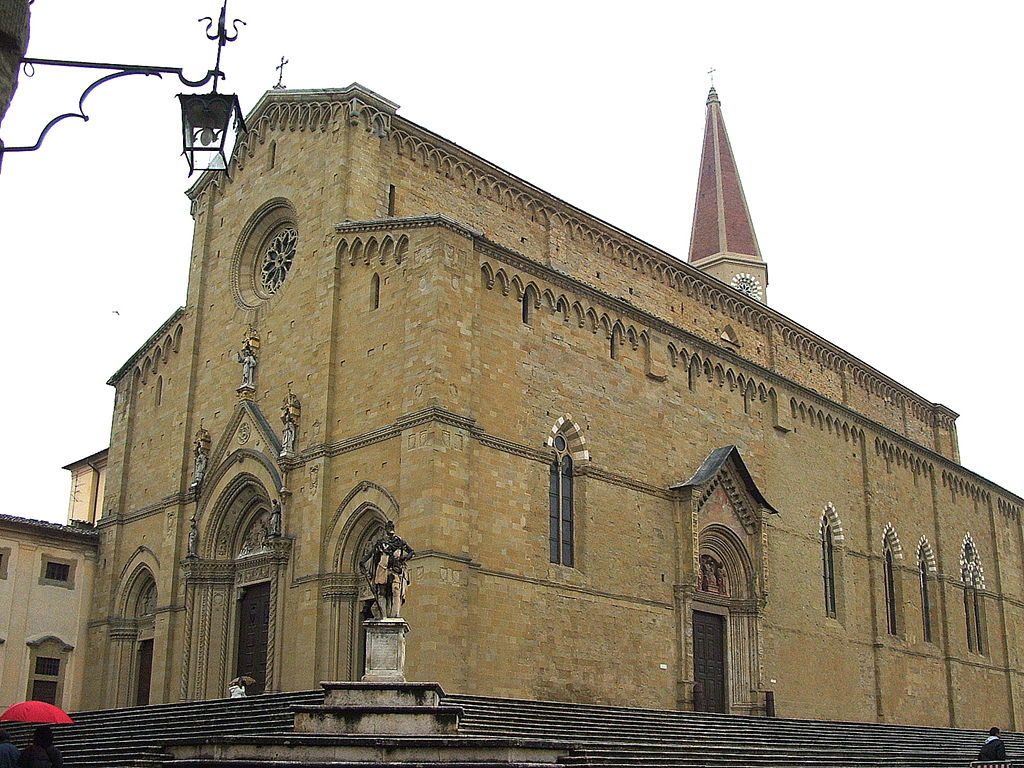 exterior of Cathedral of Arezzo