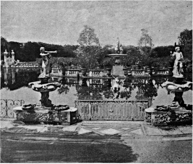 black and white photograph of Boboli Gardens, c. 1893