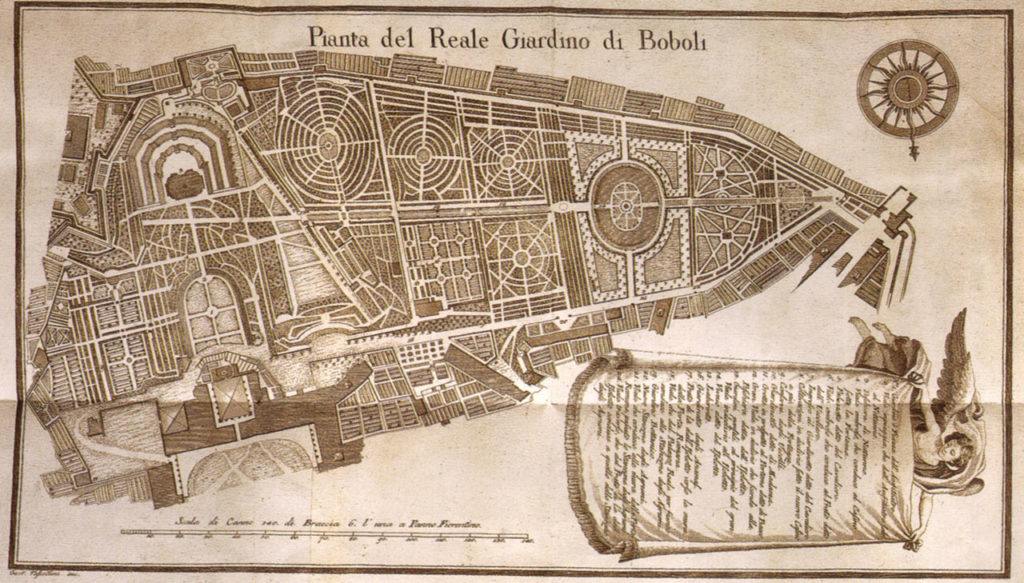 map of Boboli Gardens, 18th c.