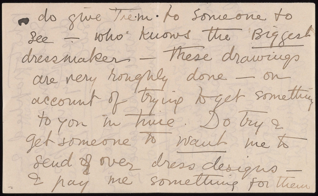 excerpt from handwritten letter
