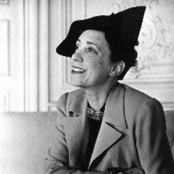 black and white photograph of Elsa Schiaparelli c.1937