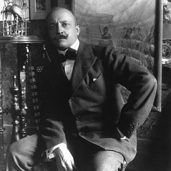 black and white portrait photograph of Filippo Tommaso Marinetti