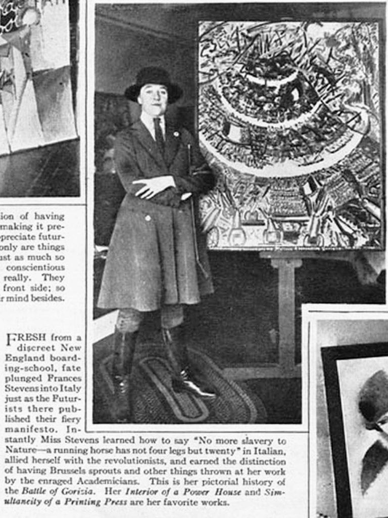 Newspaper excerpt of Francis Simpson Stevens