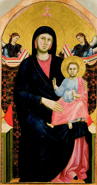 painting by Giotto of Madonna and Child