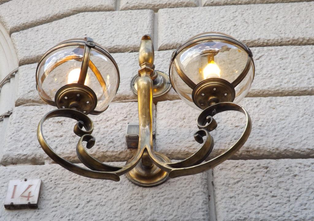 detail of exterior lamp