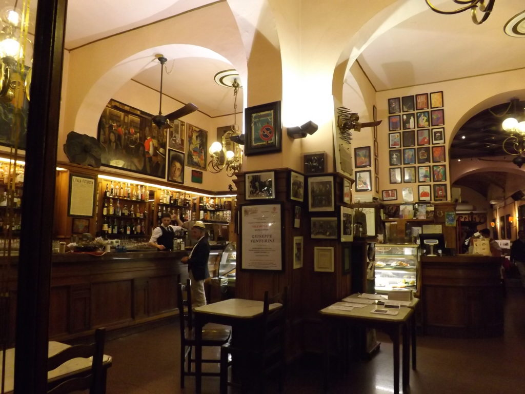 Arched interior of Cafe