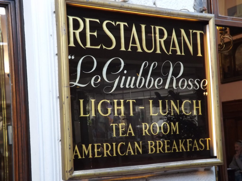 sign for Caffe Giubbe Rosse