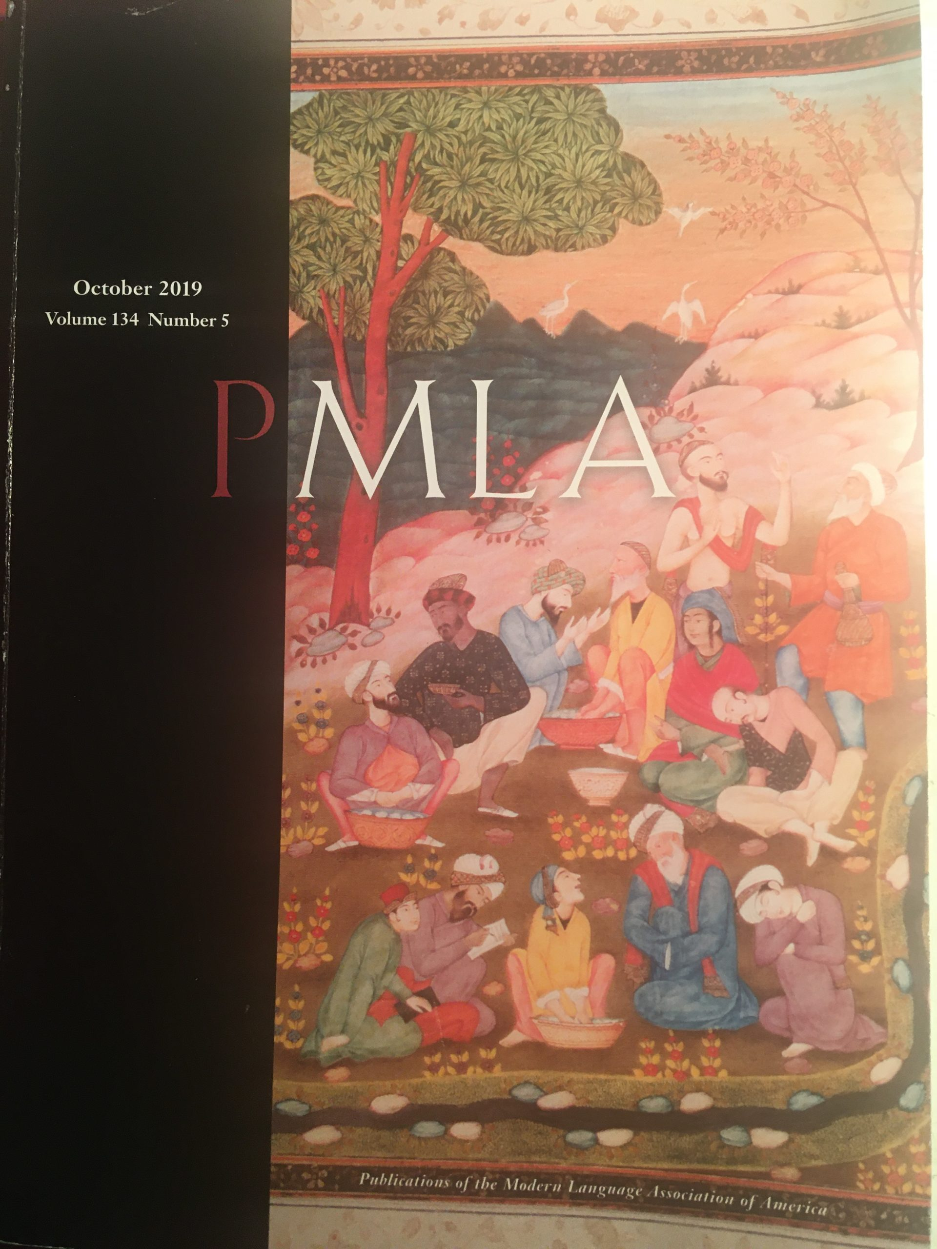 Cover of PMLA 134.5 [10.2019]