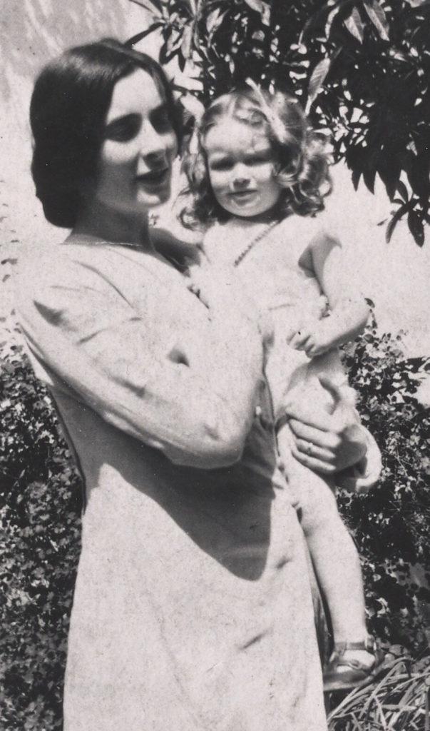 Mina Loy holding Joella Haweis Bayer