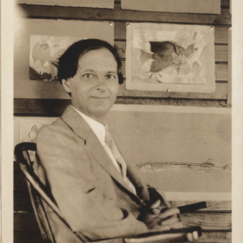 black and white photograph of Stephen Haweis c.1923