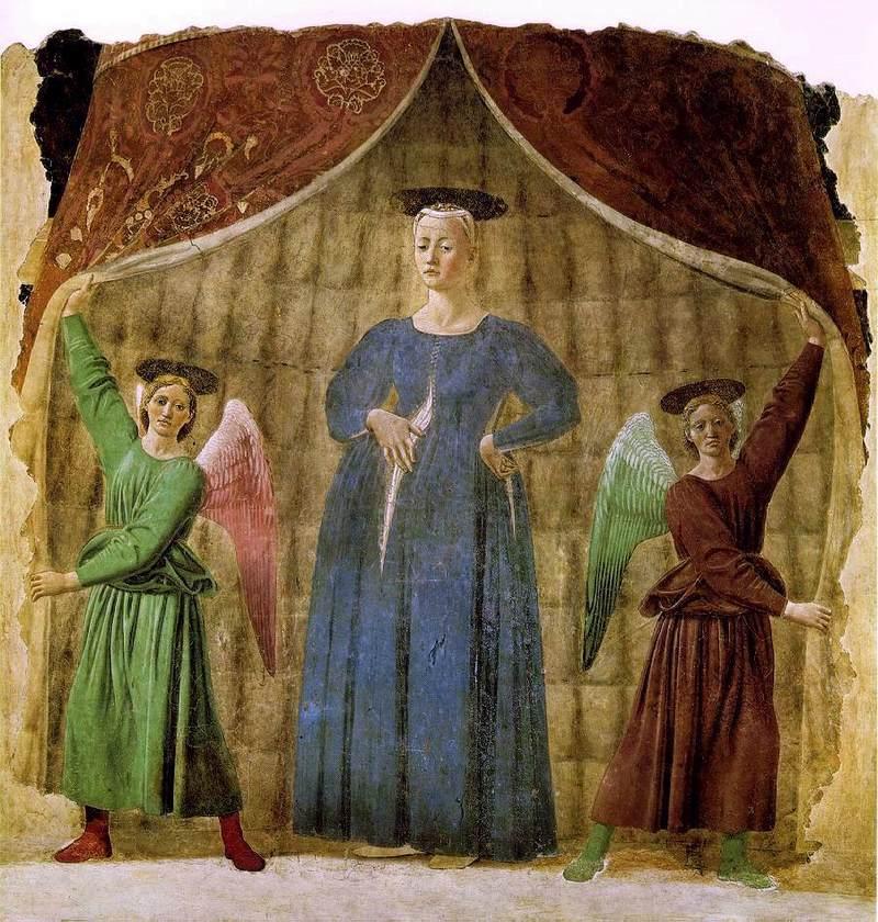 Medieval image of pregnant Madonna