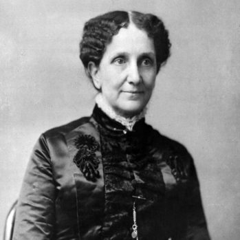 black and white portrait photograph of Mary Baker Eddy