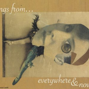 post card with surrealist painting - greetings from everywhere & nowhere
