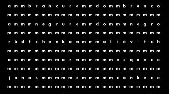 concrete poem by Augusto de Campo