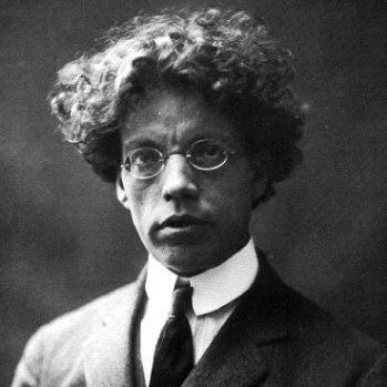 Foto giovanile di Papini nel decennio 1910-1920.