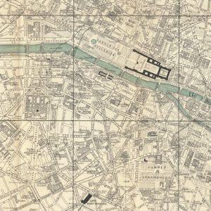 Baedeker map of Paris