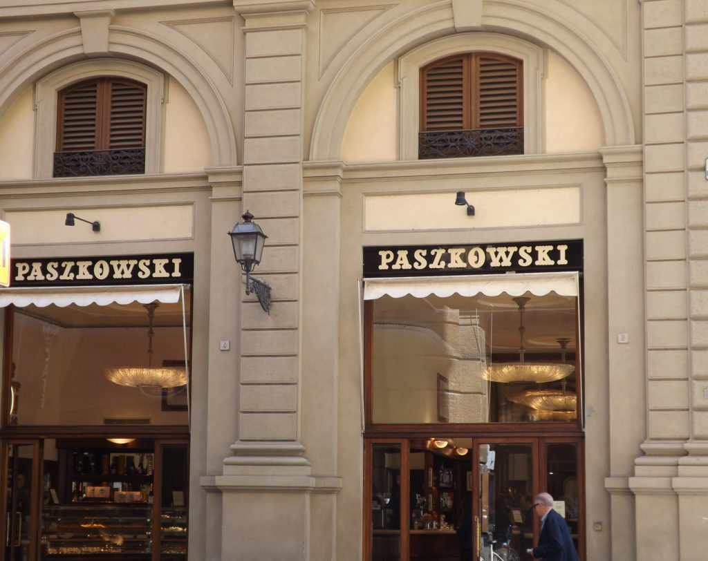 Arched doors to Cafe Paszkowski