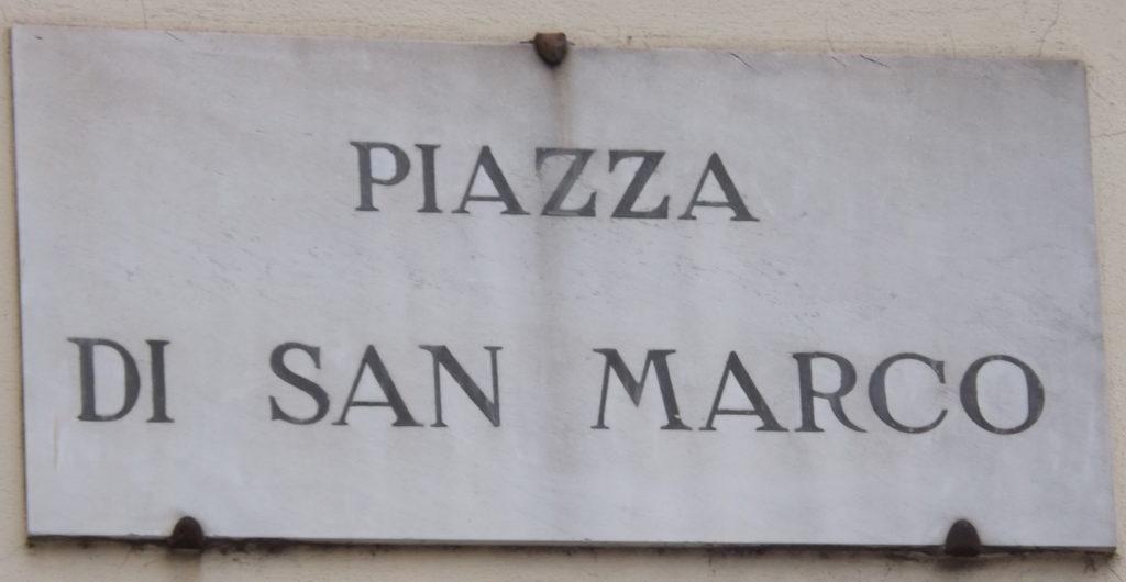 Piazza di San Marco sign