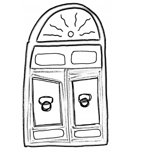 drawing of a door by Maura Tangum