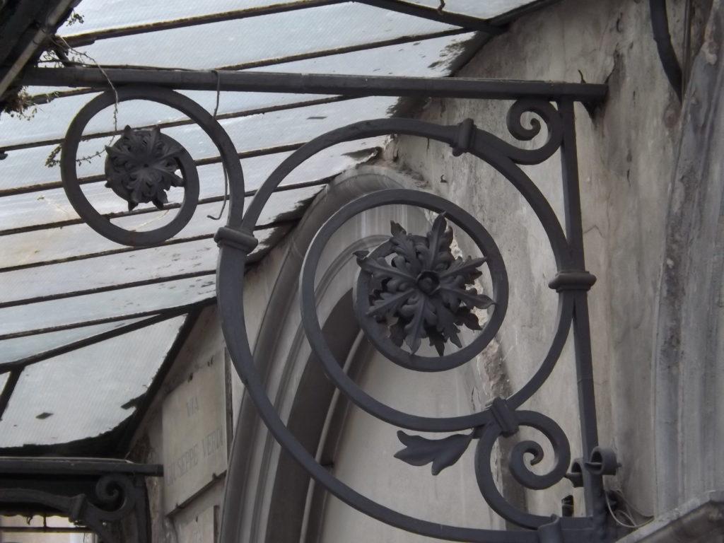 scrolled ironwork on Theatre Verdi