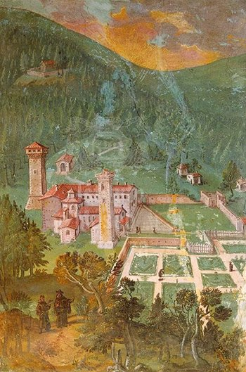 fresco of Vallombrosa Abbey