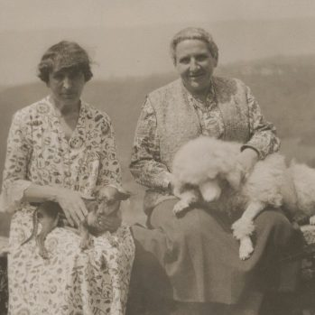 Alice B. Toklas and Gertrude Stein from their literary archive at Beinecke Library