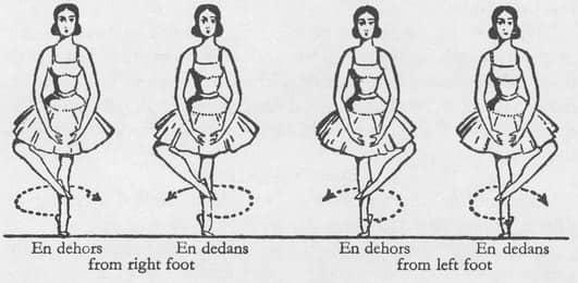 Illustrated ballet diagram