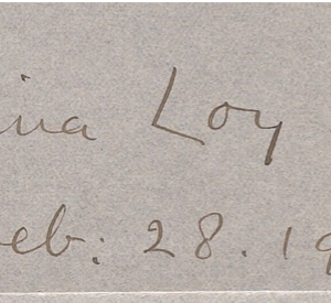 Loy signature, Feb. 28, 1915