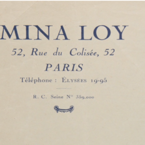 Mina Loy letterhead