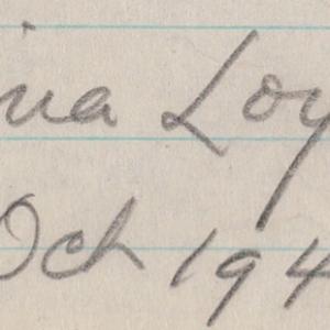 Mina Loy - Oct 1942.