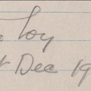 Mina Loy 1st Dec 1944