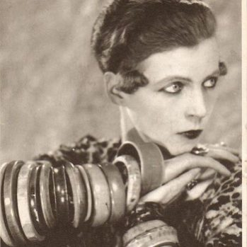 The iconic portrait of Nancy Cunard, 1925, photographed by Man Ray © Man Ray Trust