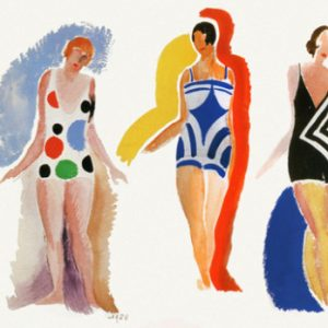 1928 Delauney painting of women in swimsuits